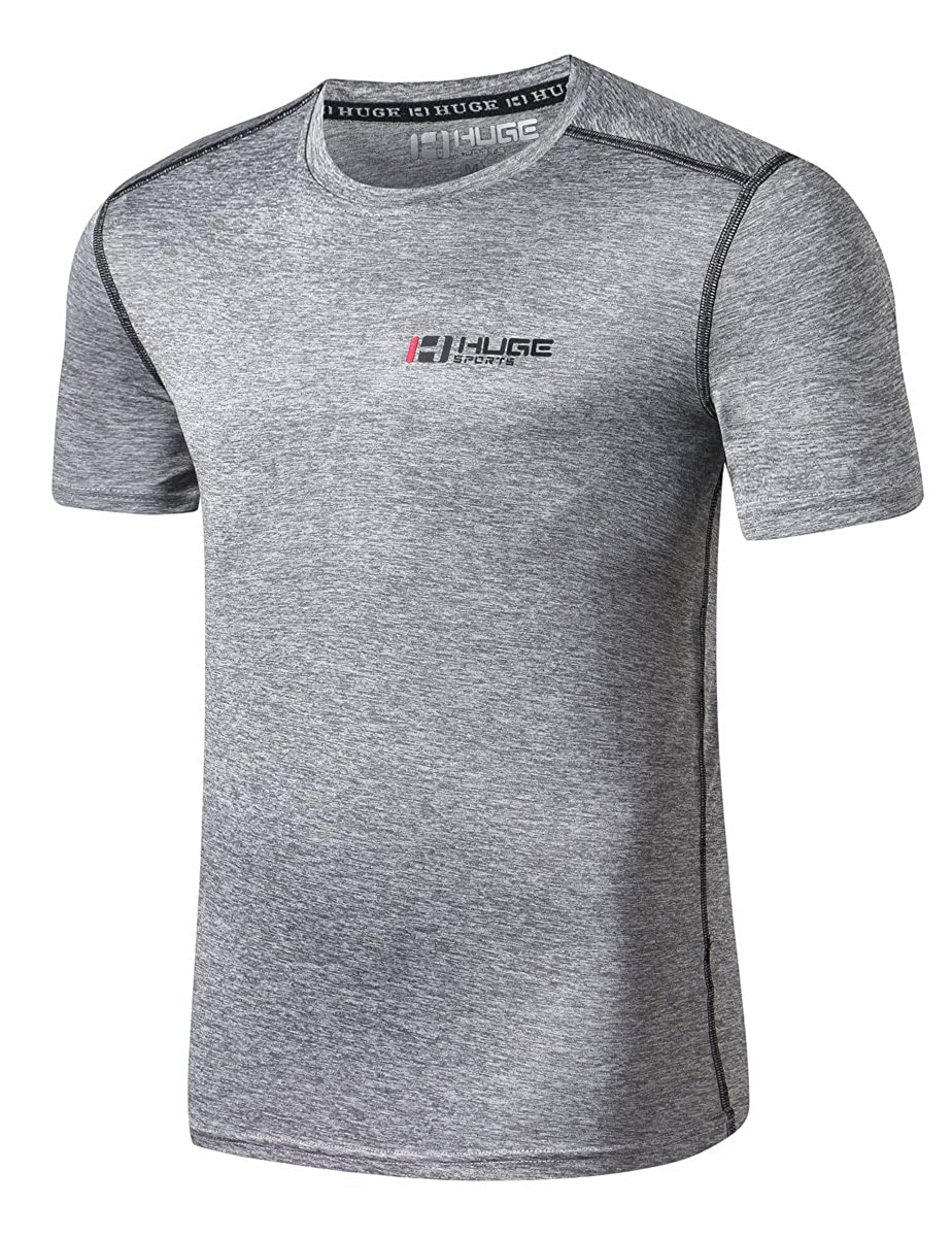 HUGE SPORTS Tech Quick Dry Exercise Fitness T-Shirt LBX CA-FS001-Sh