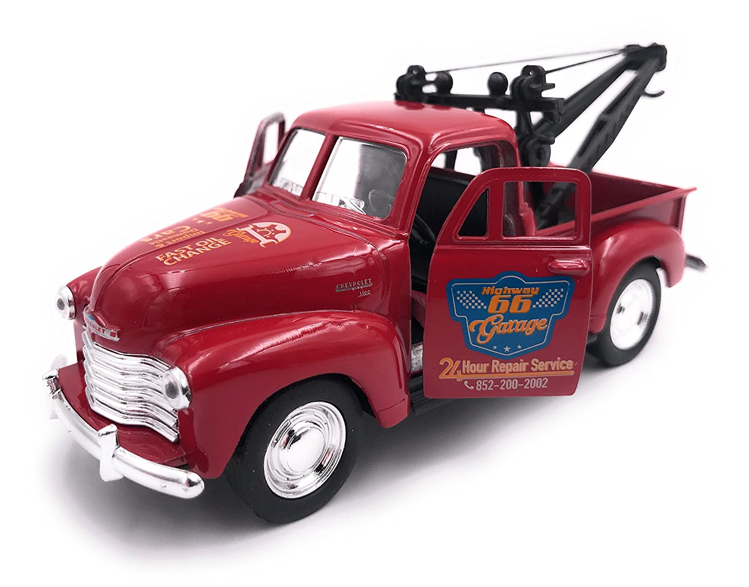 H-Customs Welly 1953 Chevrolet Tow Truck Model Car Auto PRODOTTO CON LICENZA 1: 34-1: 39 Rosso hcm1953chevtowtruckrot2605