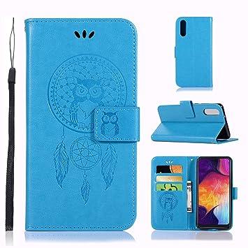 Zchen Funda Samsung Galaxy A50, Funda Piel con Tapa Suave TPU y Cuero de PU Tipo Libro Billetera Resistente a los Golpes Carcasa para Samsung Galaxy ...