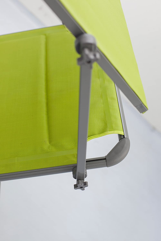 con Quick Dry Foam Verde Tumbona Acolchada 74056 Meerweh Mar WEH Aluminio Tumbona de jard/ín XXL con Techo 200/x 70/x 37.5/cm