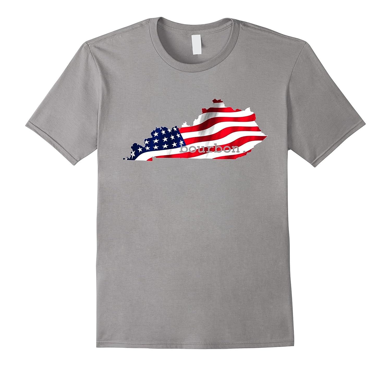 Kentucky State Bourbon Love Drinking Whiskey Home T-Shirt-Vaci