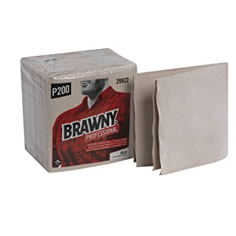 Brawny Industrial marrón 3 capas 1/4 Fold luz deber papel Limpiaparabrisas