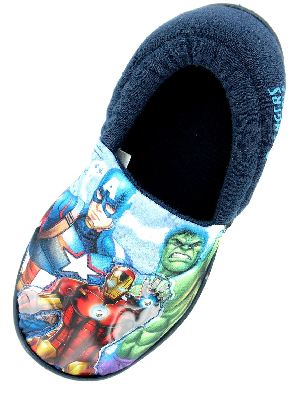 Avengers Boys Marvel Spiderman Lights Slippers Shoes Navy Blue Toddler Children Size 7-3 177
