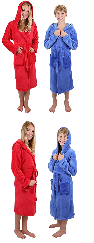 bleu ou rouge size 128 Betz Peignoir dint/érieur /à capuche pour enfant en microfibres bleu couleurs