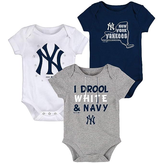 Amazon.com: New York Yankees - Juego de traje de bebé (3 ...