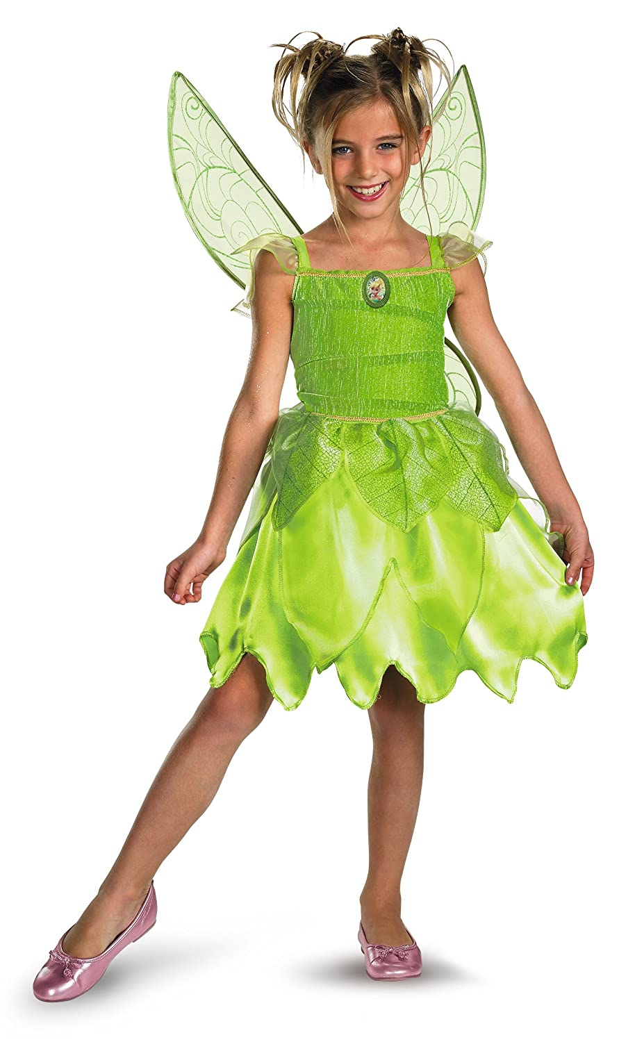 Kids Deluxe Disney Peter Pan Tinker Bell Pirate Tink Fairy Costume Large 10-12
