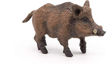 Amazon Com Papo Wild Boar Figure Multicolor Toys Games