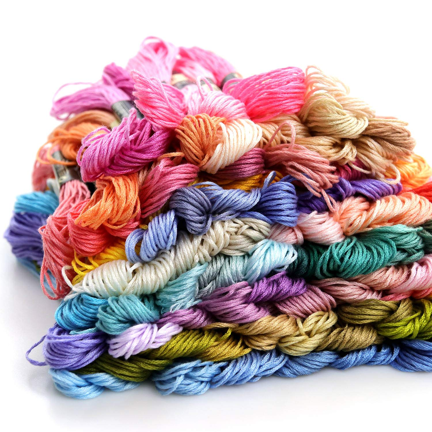 Premium Rainbow Color Embroidery Floss 210 Skeins Per Pack with Cotton for Cross Stitch Threads Bracelet Yarn Floss Craft Floss