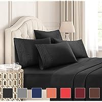 King Size Sheet Set - 6 Piece Set - Hotel Luxury Bed Sheets - Extra Soft - Deep...