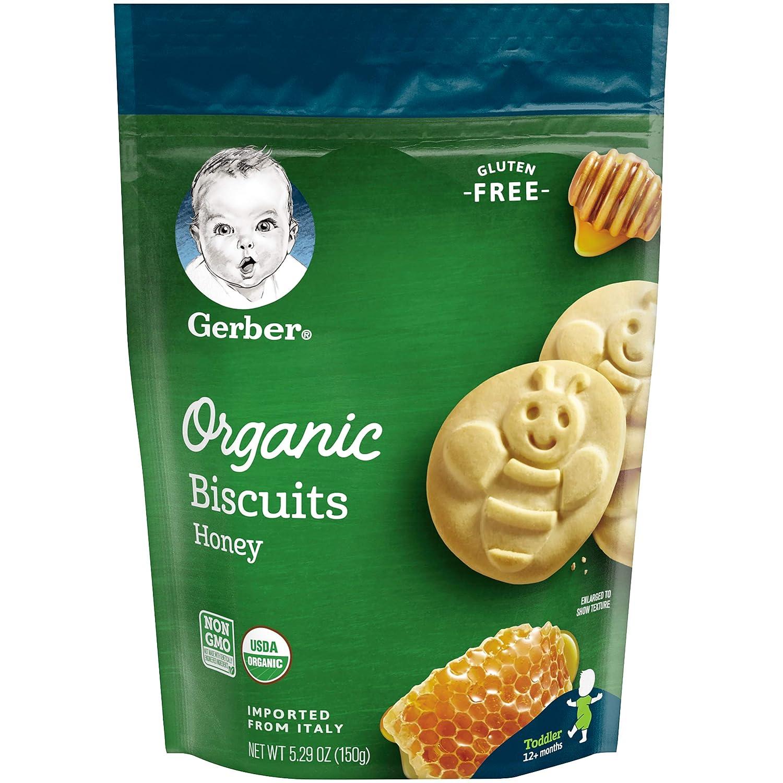 Gerber Organic Gluten Free Biscuits, Honey, 6 Count