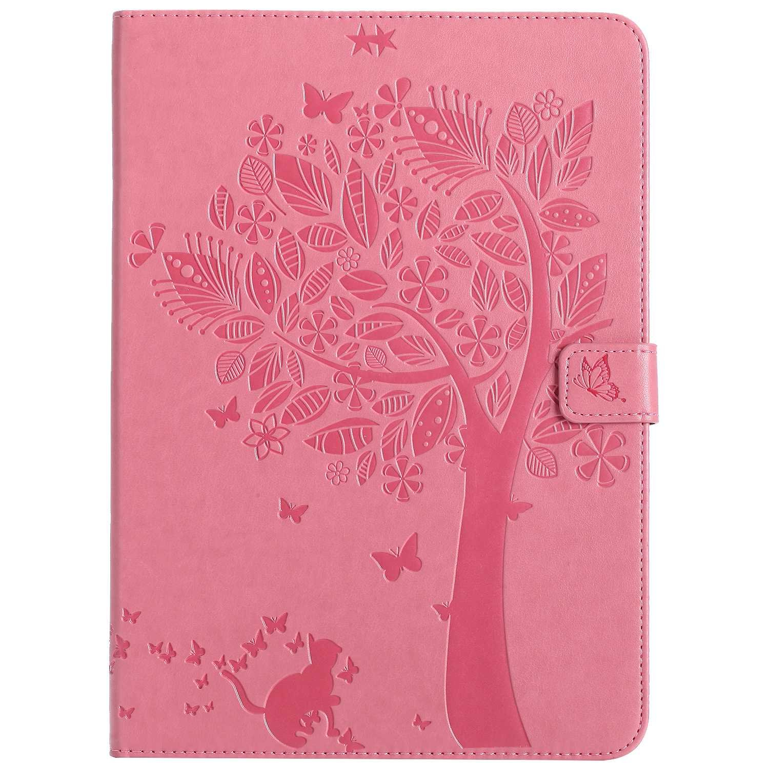 Bear Village iPad 2017 / iPad 2018 (9.7 Inch) Case, Leather Magnetic Case, Fullbody Protective Cover with Stand Function for Apple iPad 2017 / iPad 2018 (9.7 Inch), Pink
