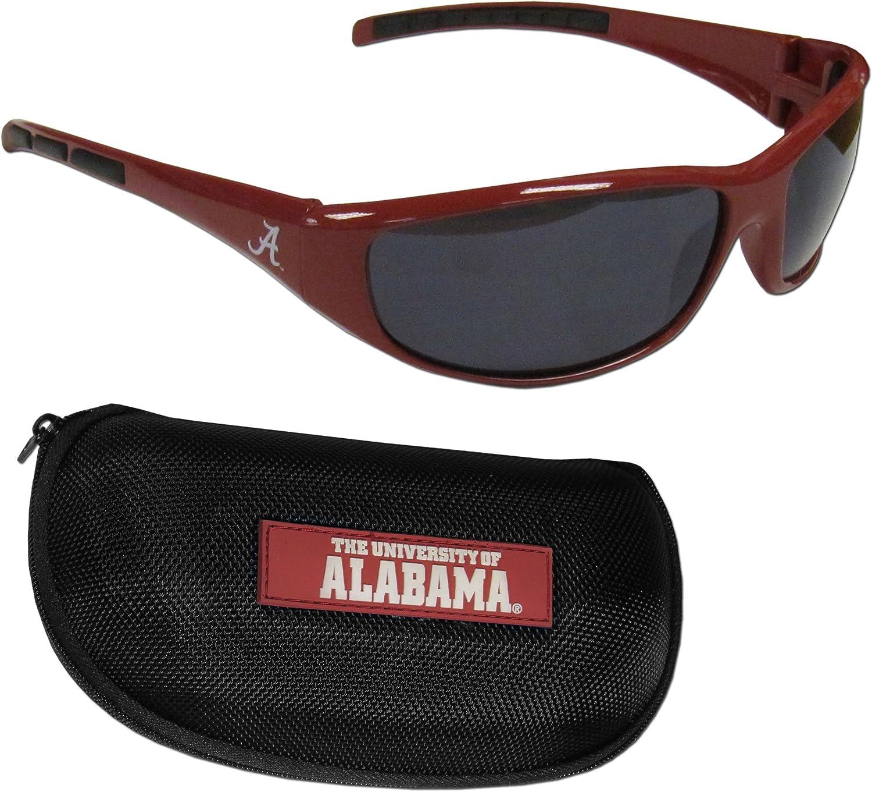 Siskiyou NCAA Alabama Crimson Tide Wrap Sunglasses & Zippered Case, Maroon