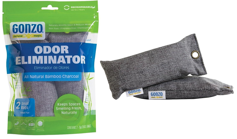 Amazon Gonzo Natural Magic Air Purifying Bags Bamboo Charcoal Odor Eliminator Gray Home Kitchen