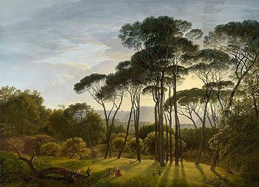 Amazon Com Hendrik Voogd Italian Landscape With Umbrella Pines