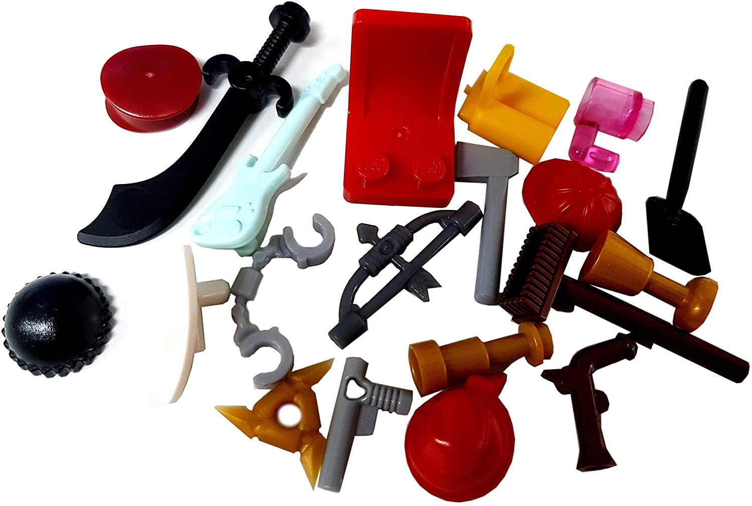 LEGO (X20) Minifigure Accessories - Hats, Weapons, Tools, Flippers Etc