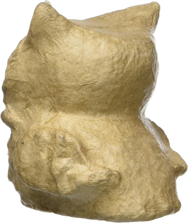 7.5 x 15 x 19.5 cm Brown d/écopatch Mache Otter