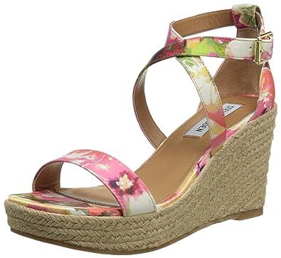 9c4fbb68f92 Steve Madden Women's Montaukk Platform Sandal, Floral, 8.5 M US ...