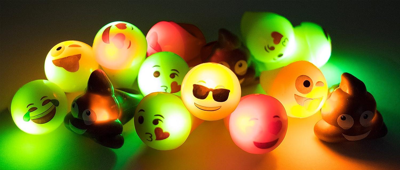 Amazon.com: Emoji Universe: anillos LED Emoji, 24 unidades ...