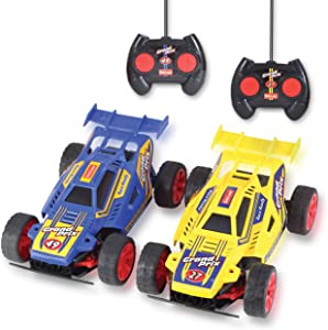 Kidzlane Remote Control Cars – 2 Pack Race Cars with All-Direction Drive and 35 Foot Range – 2 RC Cars to Race Together - Great Remote Cars for Boys Age 5-12