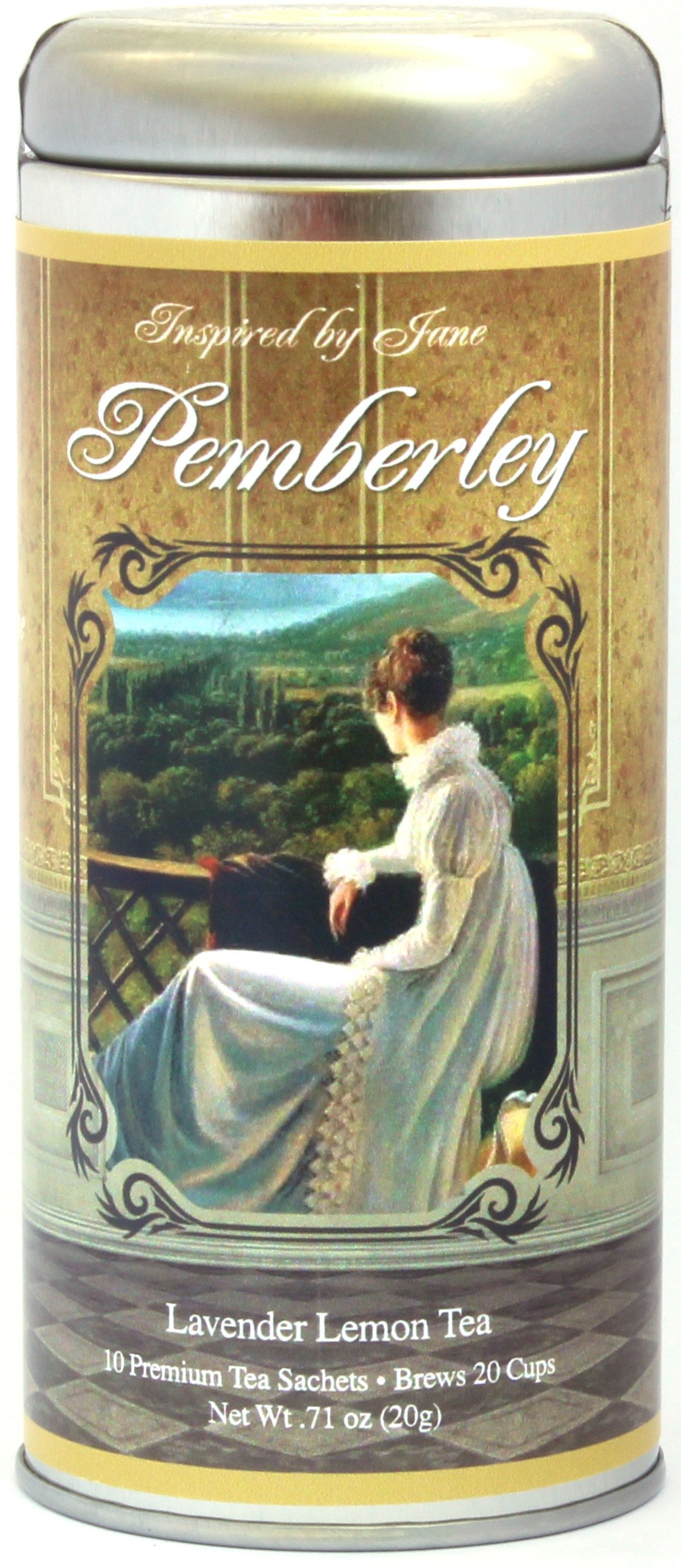 Mr. Darcy's Pemberley - Lavender and Lemongrass Tea From the Inspired By Jane Austen Premium Gourmet Tea Gift Collection - Lovely Mother's Day Gift for Mom