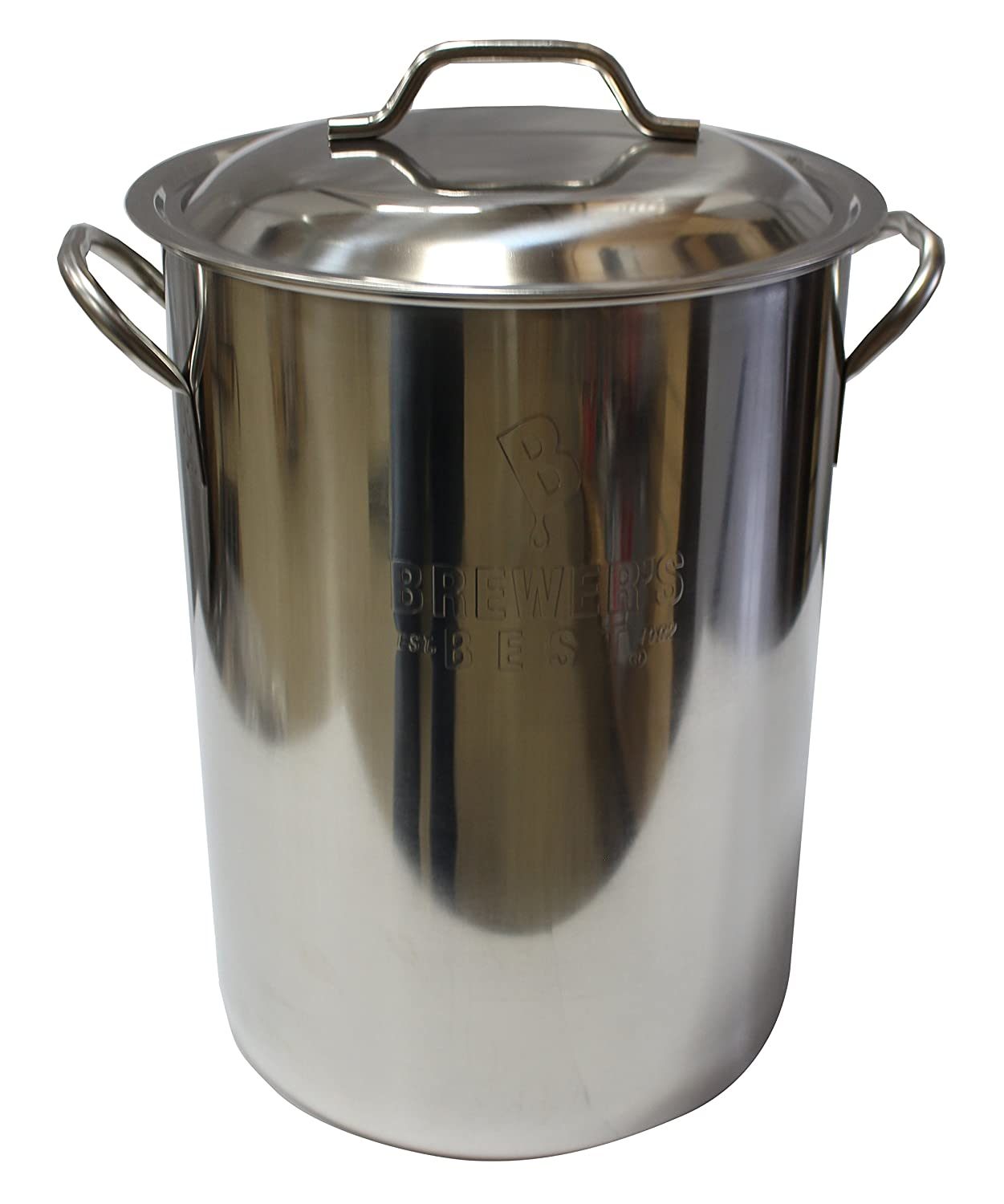 Brewer's Best Beer Brewing Boiling Pot Stainless Steel with Lid (8 gal)