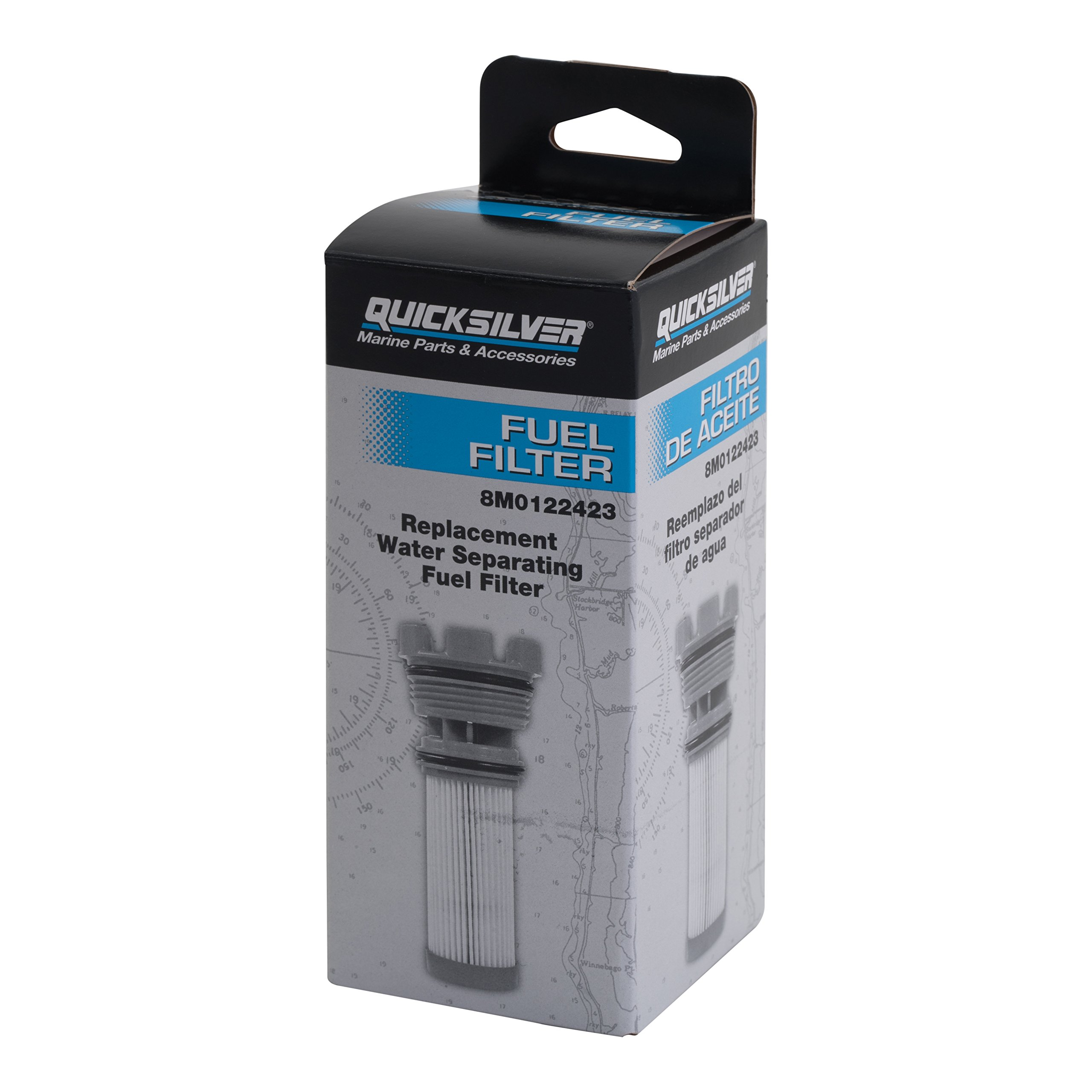 Quicksilver 8m0122423 Fuel Filter Element Mercury And Mariner Outboards Mercruiser Stern Drive Engines 35 8m0060041 Filters Sports