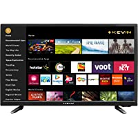 Kevin 80 cm (32 Inches) HD Ready Smart LED TV KN32SCA with CineWall (Black) (2019 Model)