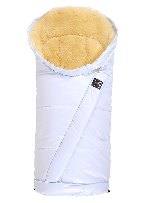 Kaiser Coosy - Saco de abrigo fabricado en piel de cordero (sin lana) azul