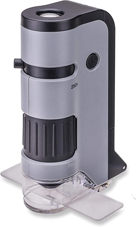 Carson MicroFlip 100-250x Microscopio de Bolsillo con luz LED y ...