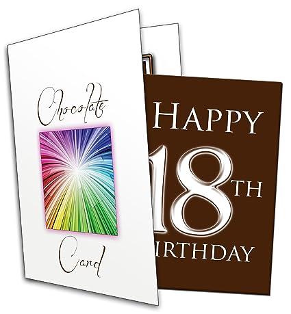 Alles Gute Zum 18. Geburtstag (u0026quot;Happy 18th Birthdayu0026quot; Chocolate  Card)