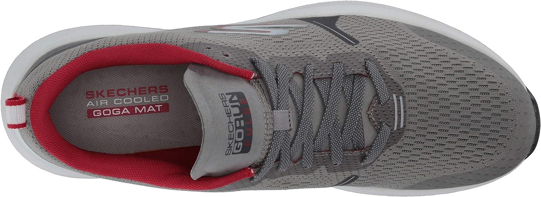 Skechers mens Go Run Pulse - Performance Running & Walking Shoe Grey Red