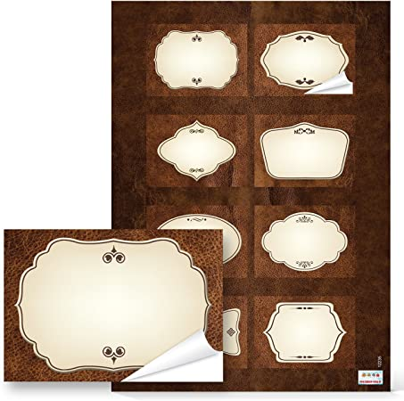 Abcidubxc 32 Autocollants pour Bouteilles de Cuisine Etiquettes de Table Autocollantes Etiquettes de Table Etiquettes Etiquettes Imperm/éables R/éutilisables pour Cuisine Epices Confiture