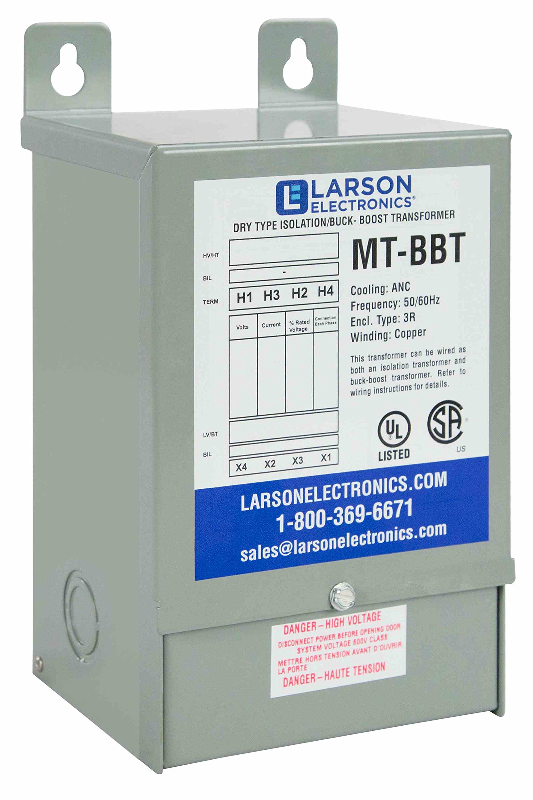 1-Phase Buck/Boost Step-Down Transformer - 236V Primary - 208V Secondary -12.4 Amps -50/60Hz