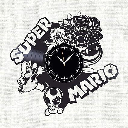 Amazon Com Soficlock Super Mario Vinyl Record Wall Clock 12 The