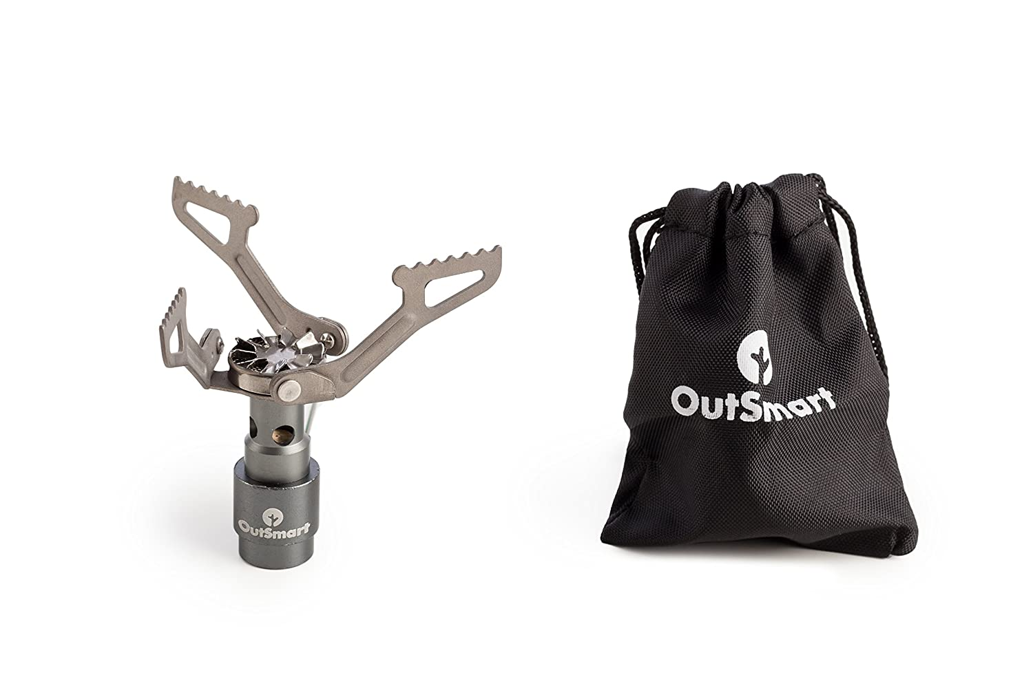 OutSmart Ultralight Titanium Gas Stove | Single Burner Portable Stove for Backpacking, Outdoor Camping and Hiking | Because a House While Traveling ...