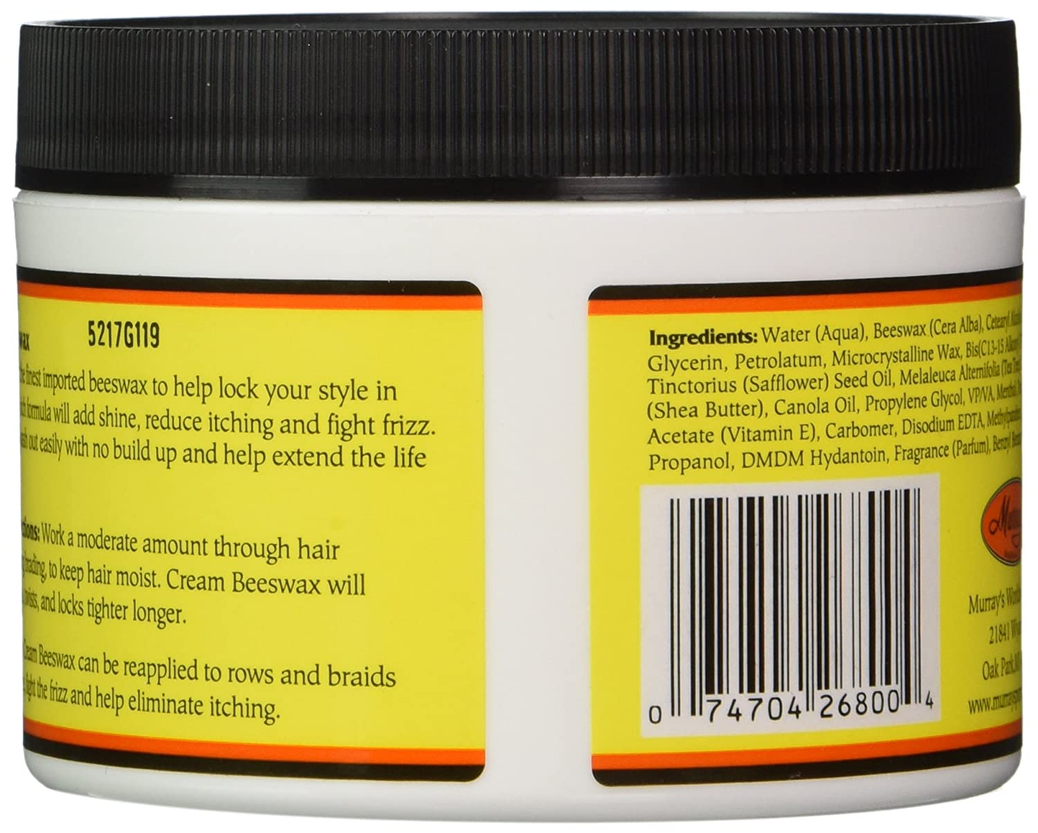 Amazon Murrays Beeswax Cream 6 Ounce Hair Growth Products Beauty