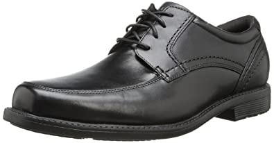Rockport Men's Style Leader 2 Apron Toe Black Waxed Calf 8 W (EE)-