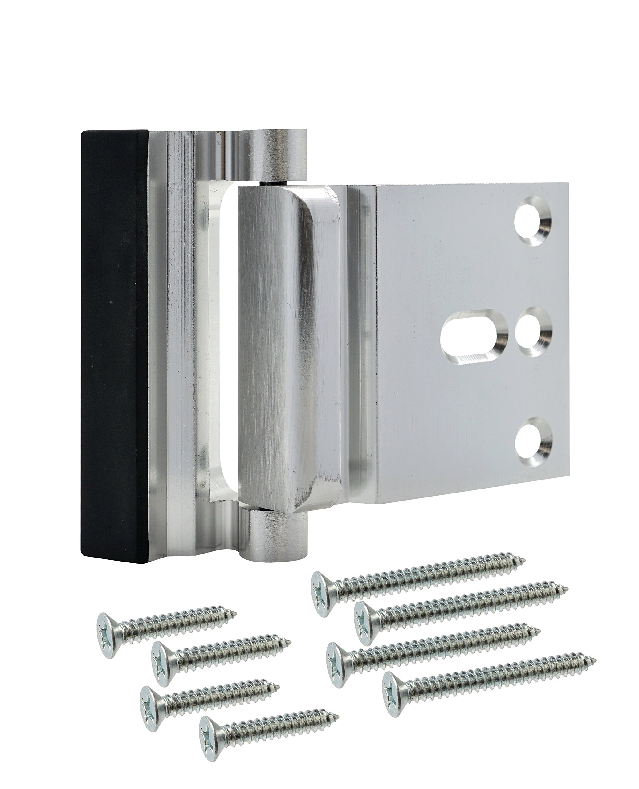 Lamosh Door Reinforcement Lock – for Extra Safety to Your Home and Prevent Unauthorized Entry. (Brushed Silver)