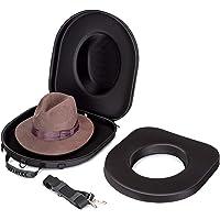 Hat Box Travel Fedora Case Universal Carrier for Hats Carry On Bag Men & Women