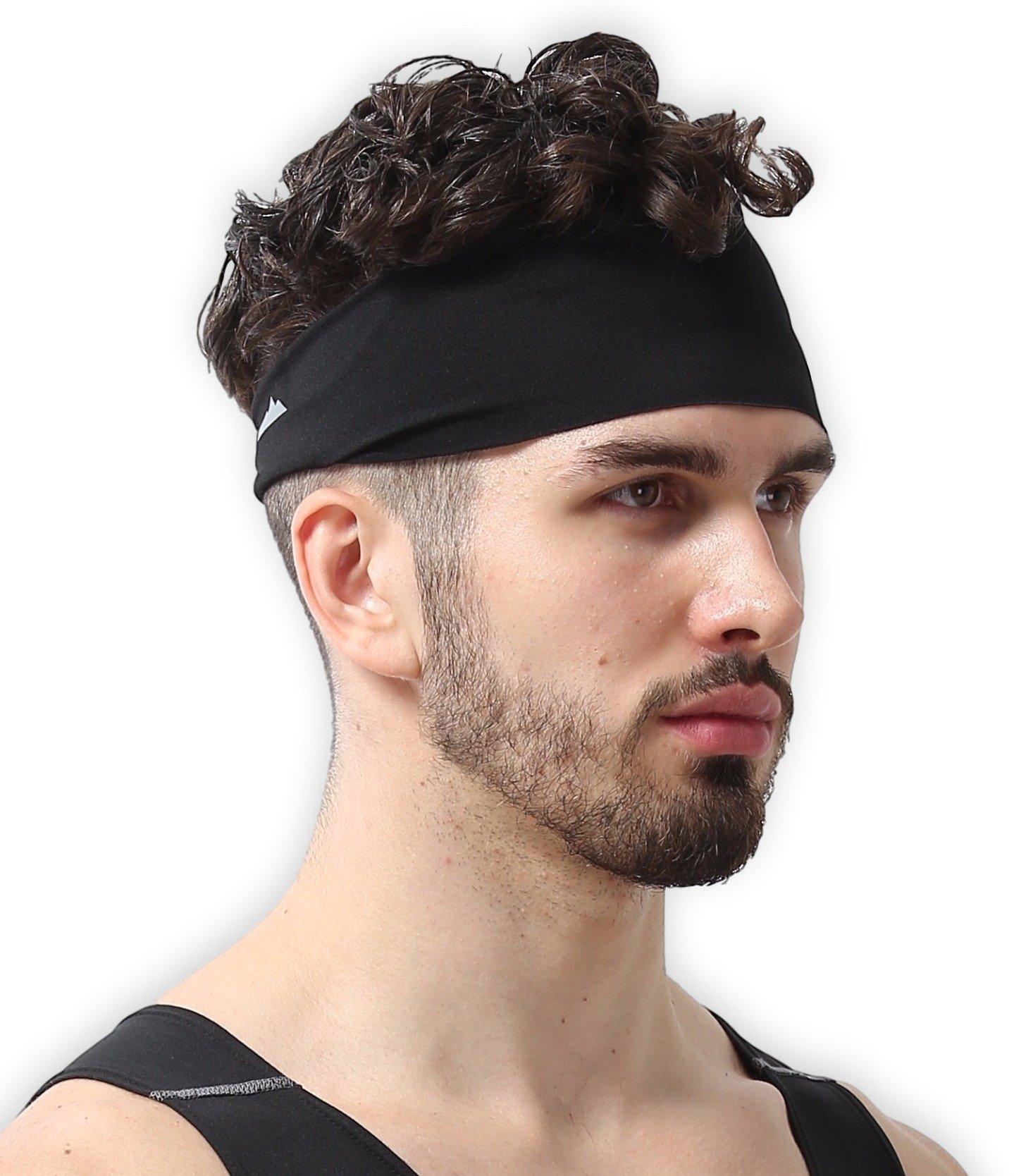 Details about Hair Head Band Sweatband Headband Stretch Mens Wrap Elastic  Sports Men Thin Gym 3342990239e