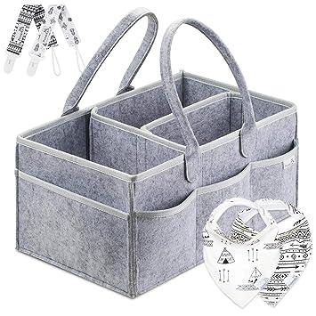 Amazon Putska Baby Diaper Caddy Organizer Portable Holder Bag