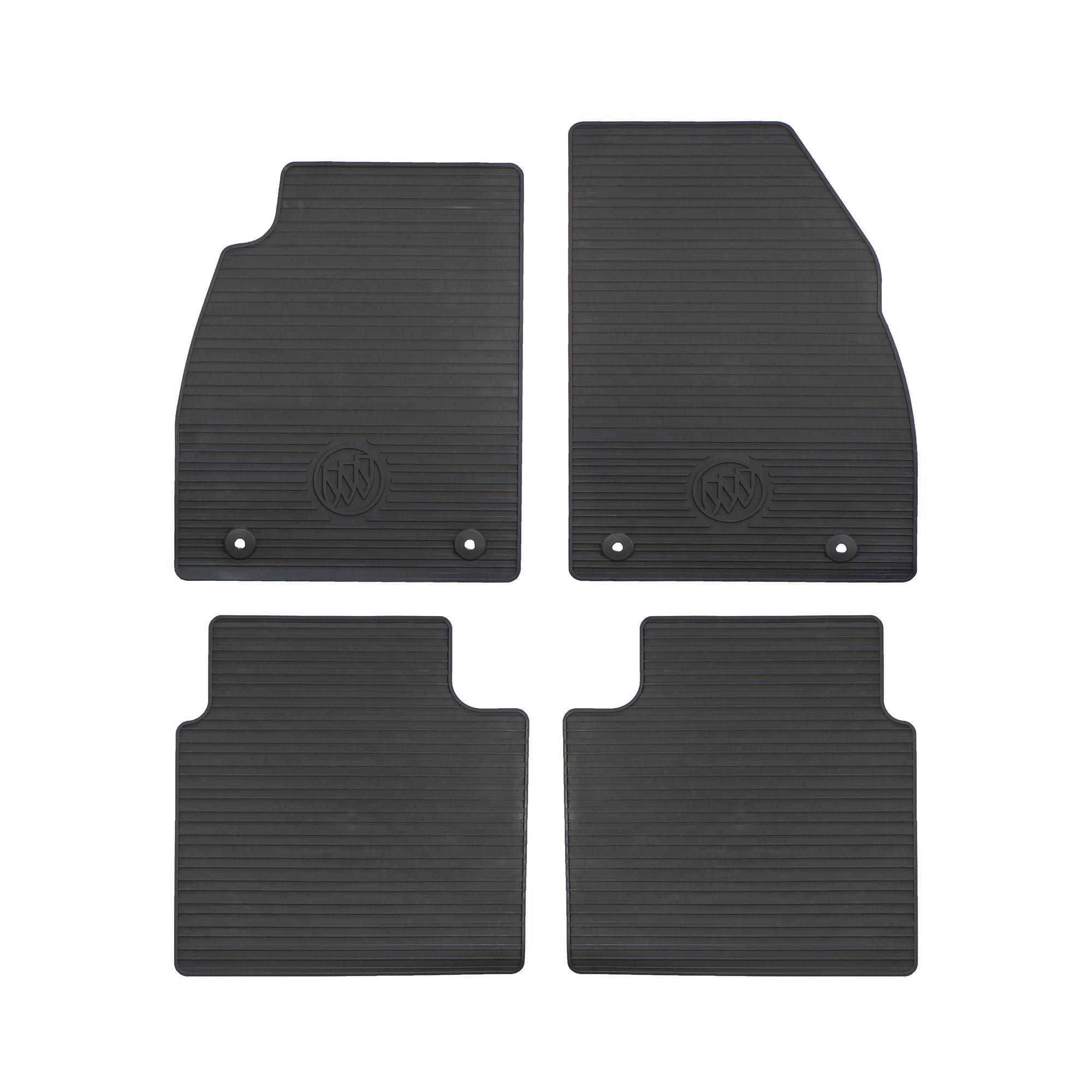 GMC OEM New Front & Rear All Weather Rubber Floor Mats Black 13-16 Lacrosse 23101701