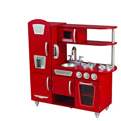 KidKraft Vintage Play Kitchen - Red: Toys & Games