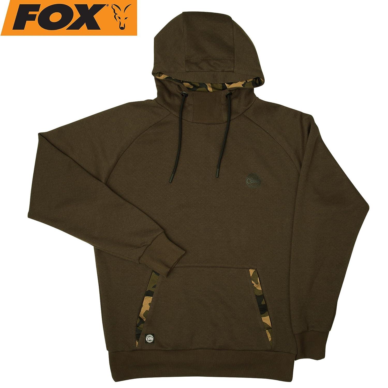 Fox Chunk Dark Khaki Camo Hoodie - Angelpullover für Karpfenangler, Pullover für Angler, Kapuzenpullover, Hoody, Sweatshirt