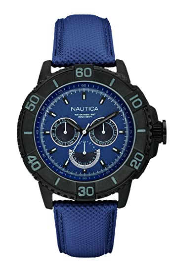 a3bdcbfc0bd2 Nautica A18644G - Reloj analógico de Cuarzo para Hombre