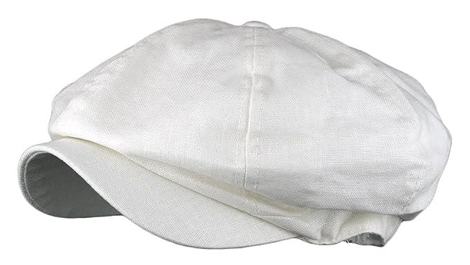 bdf58d46a08 Men s Linen 8 Panel Applejack Gatsby Newsboy Ivy Hat (One Size ...