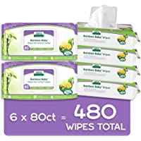 Aleva Naturals Bamboo Baby Wipes | Perfect for Sensitive Skin | Extra Strong and Ultra Soft | Natural and Organic…