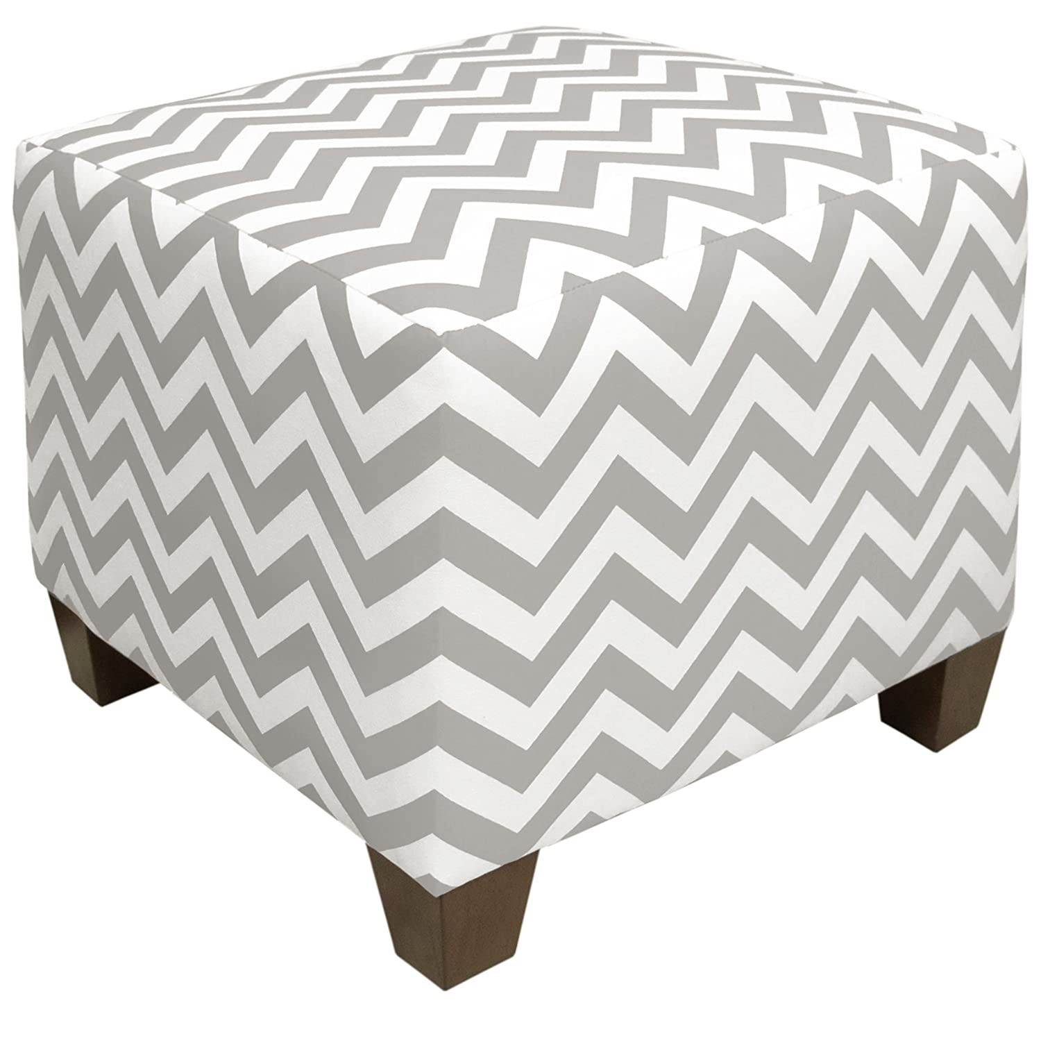 Beautiful Amazon.com: Skyline Furniture Square Ottoman, Zig Zag Ash White: Kitchen U0026  Dining