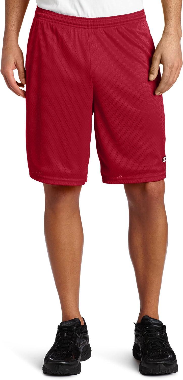 Champion Men's Long Mesh Short with Pockets at  Men's Clothing store