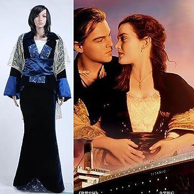 Titanic Rose Flying Dress Costume Victorian Kleid Kostüm ...